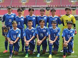 U-14 日本女子選抜 初戦を白星で飾る(上海) EAFF 女子トーナメント 2017 中国遠征