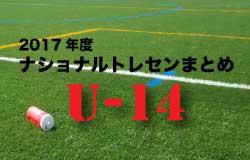 2017年度 ナショナルトレセンU-14 まとめ