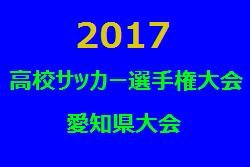 2017年度 第96回全国高校サッカー選手権大会 愛知県大会 西尾張地区予選 県大会出場チーム決定