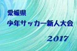 2017年度 第40回 愛媛県少年サッカー新人大会 U-11【南予地区予選】県大会出場4チーム決定!