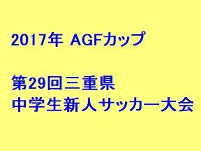 2017年 AGFカップ 第29回三重県中学生新人サッカー大会 優勝は三重サッカーアカデミー
