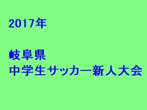 2017年 岐阜県中学生サッカー新人大会 優勝は帝京大可児!
