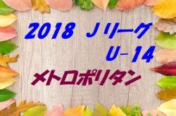 2018Jリーグ U-14 メトロポリタンリーグ A1は横浜F・マリノス、A2は柏レイソル、Bはヴァンフォーレ甲府、Cは三菱養和調布がリーグ優勝! 12/27全日程終了!全結果掲載!