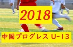 2018中国プログレスリーグU-13 結果速報!10/20.21 情報お待ちしております!