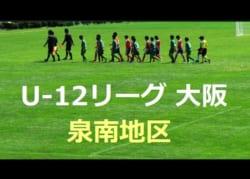2018年度 U-12リーグ(全日リーグ) 第42回全日本少年サッカー大会 泉南地区  次回10/27,28!