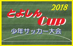 2018年度  第11回とよしんカップ  少年サッカー大会【出場チーム・組み合わせ掲載!】10/27開催!