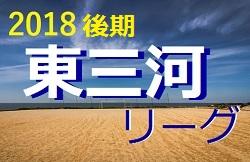 2018年度愛知 AIFA U-11 サッカーリーグ in 東三河(後期)結果入力ありがとうございます!次回12/15,16