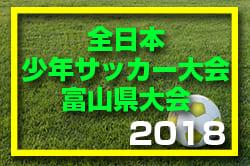 2018年第42回全日本少年サッカー大会富山県大会第49回KNB杯富山県学童クラブサッカー大会 10/13結果速報!次回10/20!