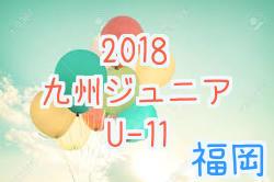 【福岡】2018第30回九州ジュニア(U-11)新人戦 福岡地区予選  優勝はアビスパ福岡!最終結果掲載!