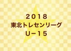 2018年度 U-15東北トレセンリーグ<前期>最終結果!優勝は宮城県トレセン!