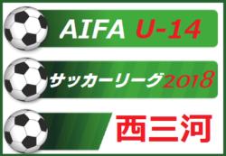2018年度  AIFA U-14 サッカーリーグ 西三河【10/20,21結果速報中!】情報をお待ちしています!