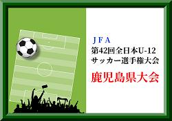 2018年度JFA第42回全日本U-12サッカー選手権大会 鹿児島大会 ベスト4決定!準決勝・決勝11/24