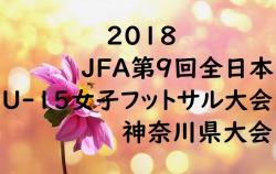 2018 JFA第9回全日本U-15女子フットサル大会 神奈川県大会 優勝はYSCCコスモス!