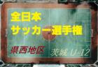 2018年度第42回全日本U-12サッカー選手権大会茨城県 県西地区大会 【全試合結果掲載!】