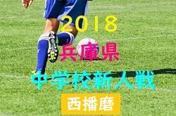 2018年度 西播磨中学校新人大会サッカー競技大会 10/20,21開催!組み合わせ掲載!
