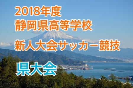 2018年度 静岡県高等学校新人大会サッカー競技 県大会 情報をお待ちしております!