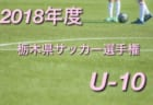 2018年度 第47回栃木県少年サッカー選手権大会 ジュニアの部(U-10)全結果掲載!