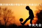 2018年度 三井のリハウス第25回大阪小学生サッカー大会(U-11) 中央大会 1/26~開催!各地区続々と代表決定