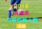 2018年度 第38回東播地区中学新人サッカー競技大会 優勝は稲美中学校!別府中学校も県大会へ!