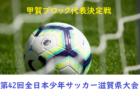 2018年度 第42回全日本少年サッカー大会滋賀県大会 甲賀ブロック代表決定戦 県大会出場チーム決定!全スコア掲載!情報ありがとうございました
