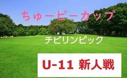 2018年度第15回ちゅ-ピ-カップ中国新聞8人制サッカー(U-11)北支部予選 10/20開催!一部組合せ掲載!大会情報お待ちしています!