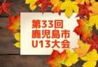 2018年度JFA第42回全日本U-12サッカー選手権大会 鹿児島大会 1-2回戦結果表掲載!3回戦は11/18