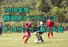 島根県ユース(U-13)リーグ2018 12/15,16結果掲載!情報ありがとうございます!