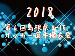 2018年度第6回島根県U-15サッカー選手権大会決勝戦 優勝は玉湯SC!