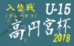 2018年度 高円宮杯JFA U-15サッカーリーグ2018新潟県 プレーオフ最終結果