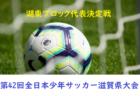 2018年度 第42回全日本少年サッカー大会 湖東ブロック代表決定戦 10/21結果!次回10/27