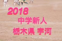 2018年度 栃木県 宇河地区新人大会サッカー大会 U-14 優勝は宮の原中!