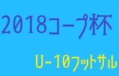 2018年度 第9回コープ杯争奪兼第24回U-10青森県少年フットサル大会(県大会)12/15結果速報!情報お待ちしております!