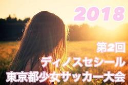 2018年度 第2回 ディノスセシール・カップ東京都少女サッカー大会 1/14結果お待ちしています!次回1/19!