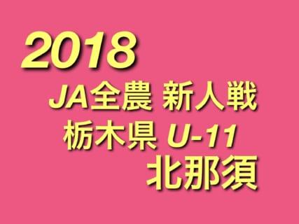2018年度 第36回栃木県少年サッカー新人大会 北那須予選 組合せ決定!12/15~開催!