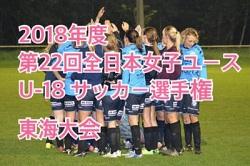 2018年度 第22回全日本女子ユース(U-18)サッカー選手権 東海大会結果掲載!優勝はNGUラブリッジ名古屋!