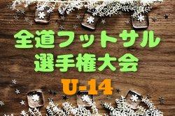【北海道】2019全道フットサル選手権大会 U-14の部 組合せ決定!3/2,3開催!