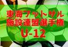 2018年度  第25回 東海フットサル施設連盟選手権大会 U-12  1/12,14会場予選結果更新!次回1/26