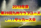 2018年度第28回九州クラブユースU‐17サッカー大会 ベスト4決定!準決勝2/24開催!