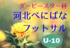2018年度【山形】ダービースター杯・河北べにばなフットサル大会(U-9)優勝は南陽West FC!