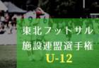2018年度 東北フットサル施設連盟選手権(U-12)<フットメッセ仙台長町予選>1/20結果速報!情報お待ちしております!