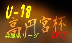 高円宮杯 JFA U-18サッカーリーグ2019 兵庫県リーグ 7/20全結果 次節は8/24