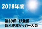 【U-11】2018スーパースポーツ ゼビオカップin福井(Super Sports XEBIO CUP 2018)優勝は大虫11!