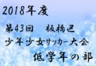 2018年度 第43回板橋区少年少女サッカー大会 低学年の部【東京】1/20結果速報!情報お待ちしています!