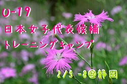 メンバー・スケジュール発表!U-19日本女子代表候補 トレーニングキャンプ(2/5 ~8@静岡)