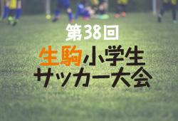 2018年度 第38回生駒小学生サッカー大会【奈良県】決勝トーナメント1/19,20結果速報!情報お待ちしています!