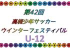 2018年度 第42回高槻少年サッカーウインターフェスティバルU-12 1/12.13開催!情報お待ちしています!