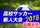 2018年度 兵庫県高校サッカー新人大会 優勝は芦屋学園高校!大会優秀選手掲載!