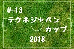 U-13 テクネジャパンカップ 2018 結果速報!1/20