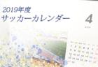 2019年度 サッカーカレンダー【四国】年間スケジュール一覧