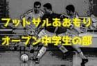 2018年度 東北U-18選抜フットサル大会(プレ大会) 結果掲載!優勝は宮城県選抜!